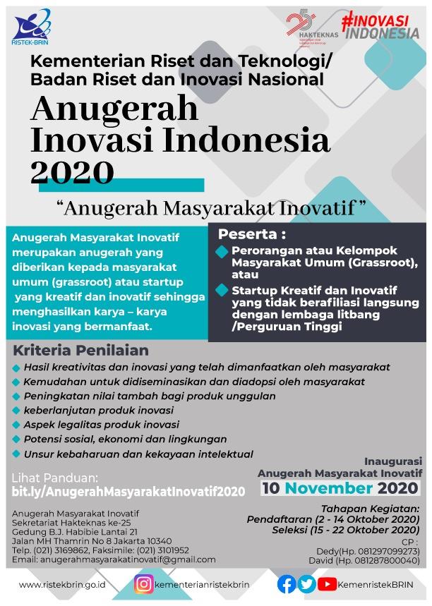 ANUGERAH MASYARAKAT INOVATIF 2020