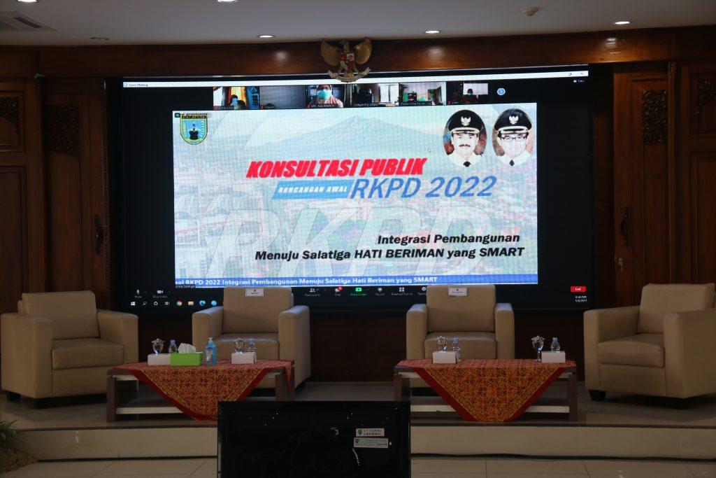 Forum Konsultasi Publik Rancangan Awal RKPD Tahun 2022 Kota Salatiga